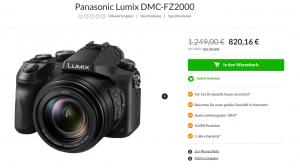 Panasonic Lumix DMC-FZ2000 im Angebot eines Online-Shops