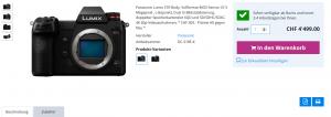 Panasonic Lumix S1R im Internetshop