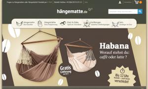 Screenshot von Hängematte.de