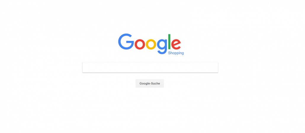 Startseite des Preisvergleichsportals  Google Shopping