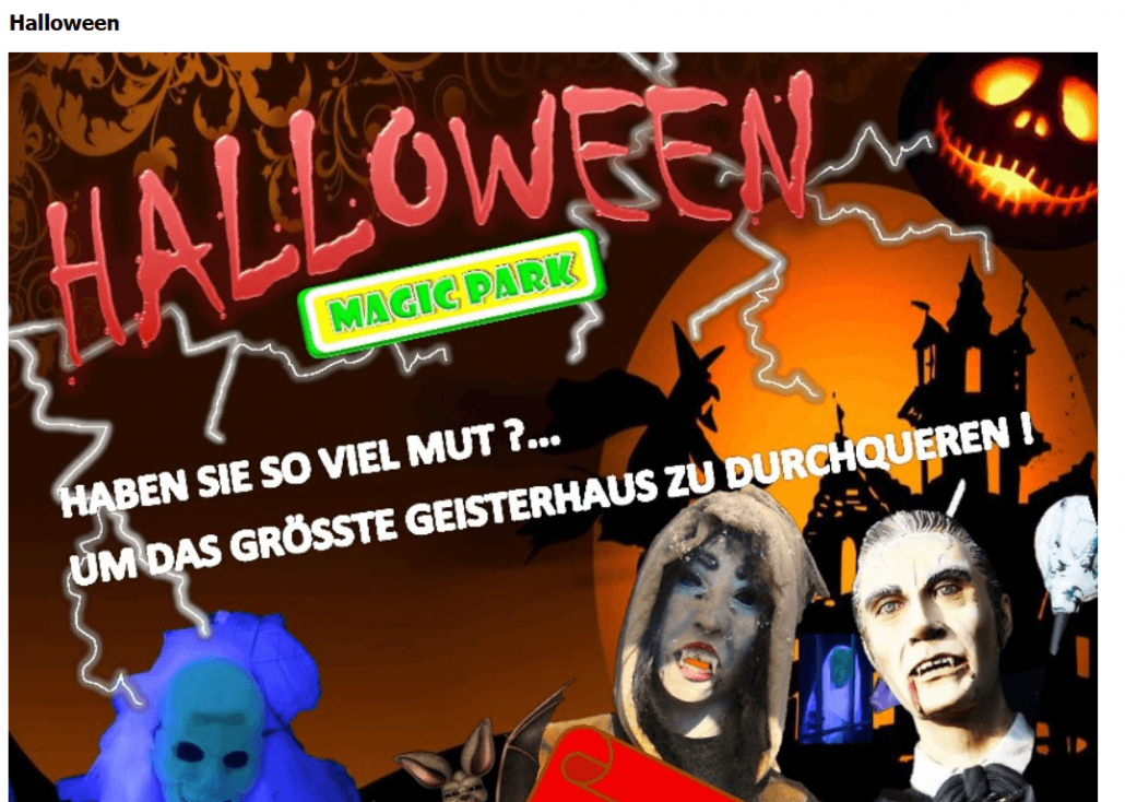 Halloween im Magic Park