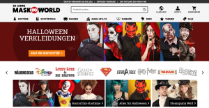 Startseite Internetshop Maskworld