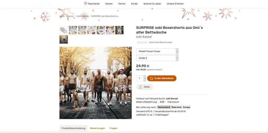 Bettwäsche-Boxershorts