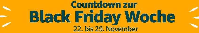 Banner der Black Friday Woche auf Amazon