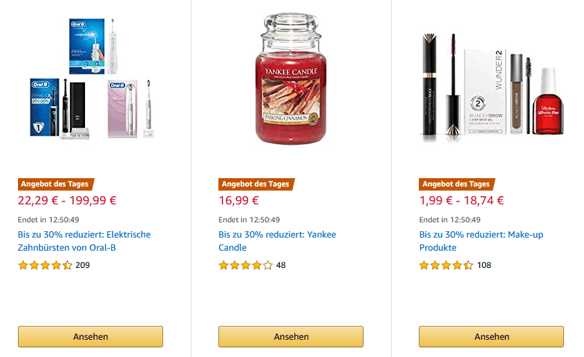 Bereits laufende Angebot auf Amazon