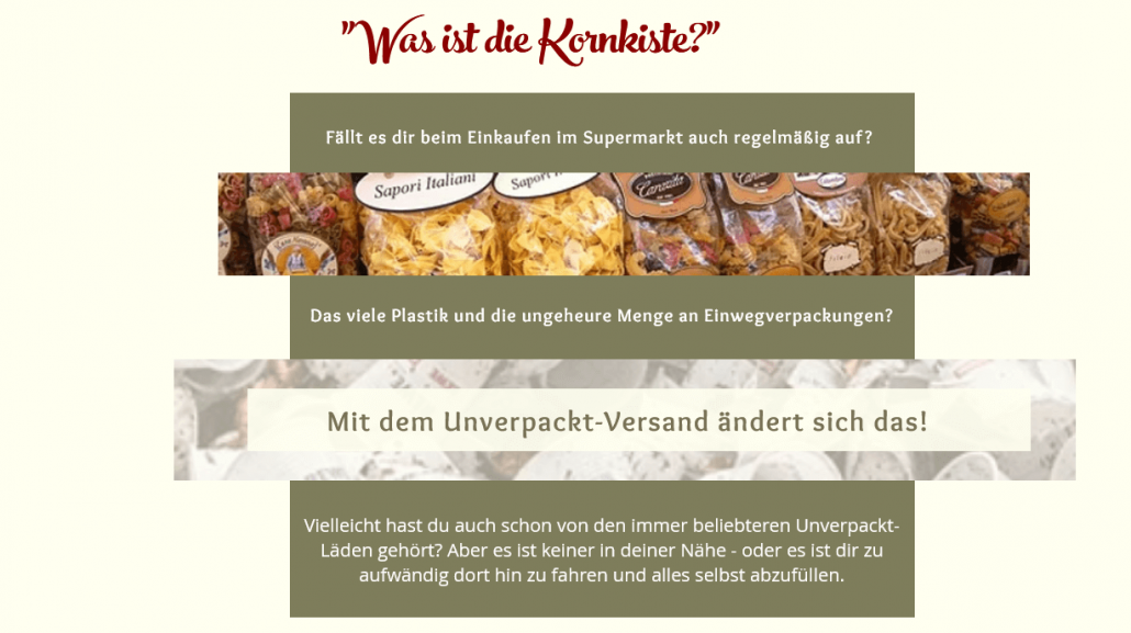 Webseite Kornkiste