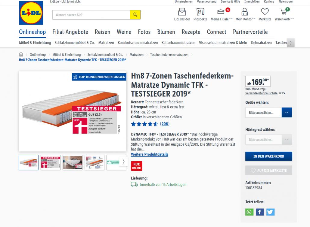 Matratzen Gunstig Im Internet Kaufen Mypaketshop