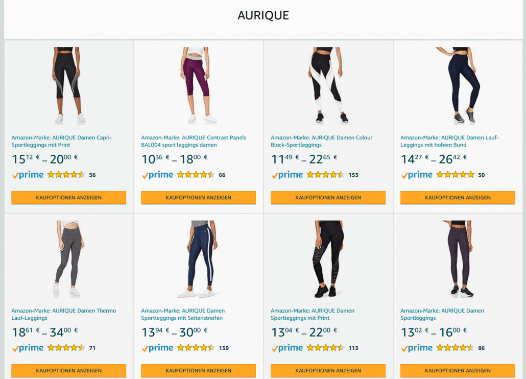 Amazon Eigenmarke Aurique