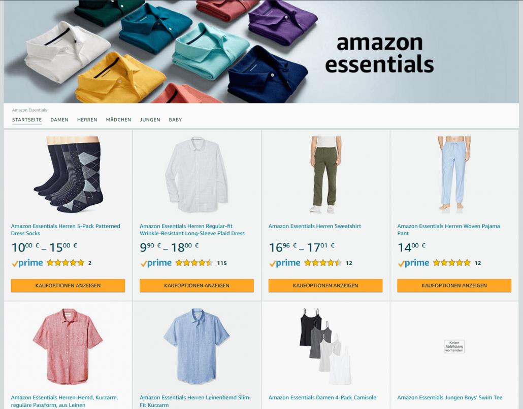 Amazon Eigenmarke Amazon Essentials
