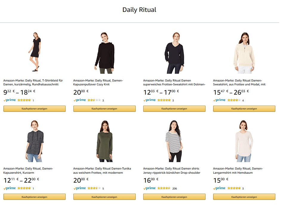 Amazon Eigenmarke Daily Ritual