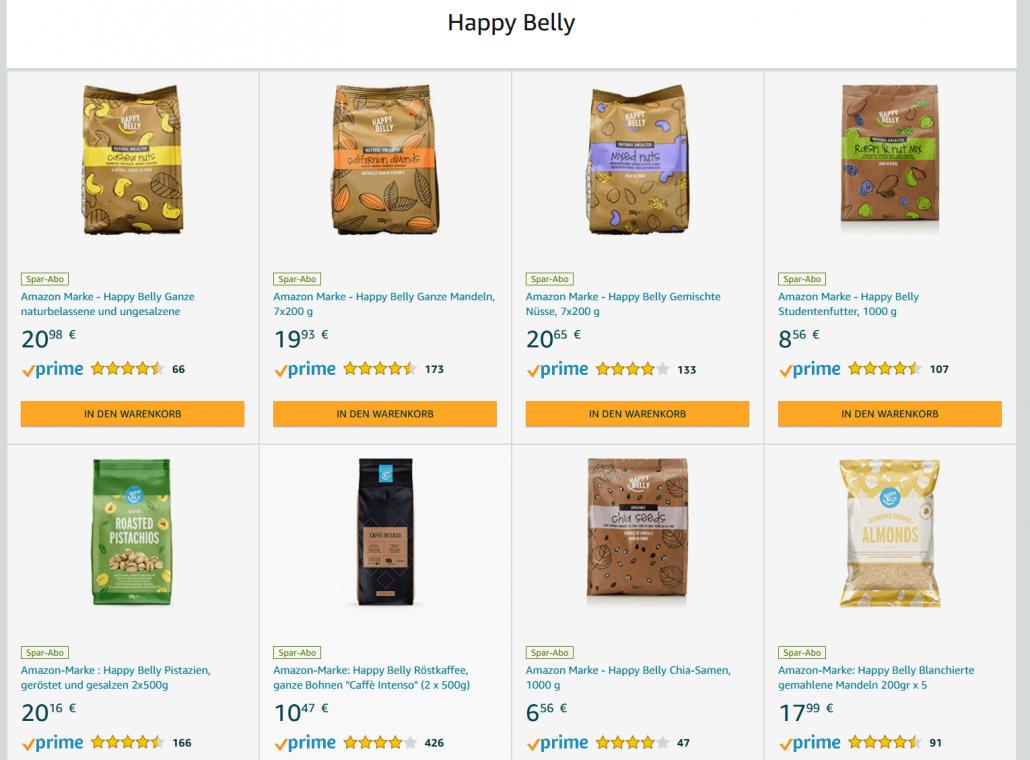 Amazon Eigenmarke Hapyy Belly