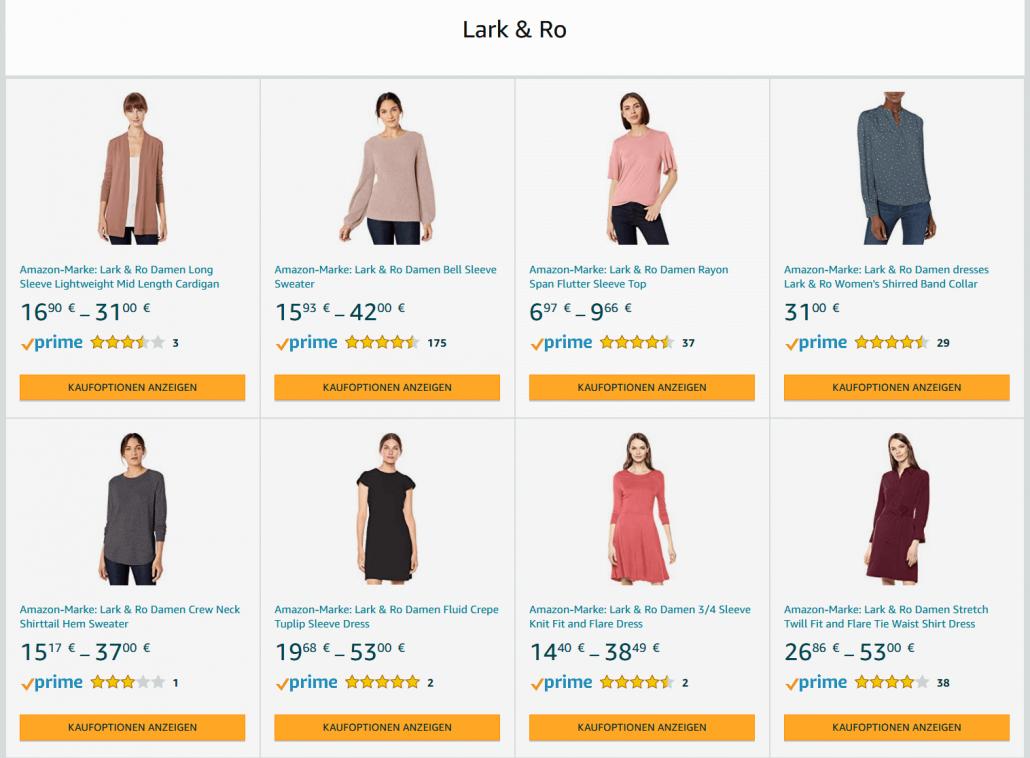 Amazon Eigenmarke Lark & Ro