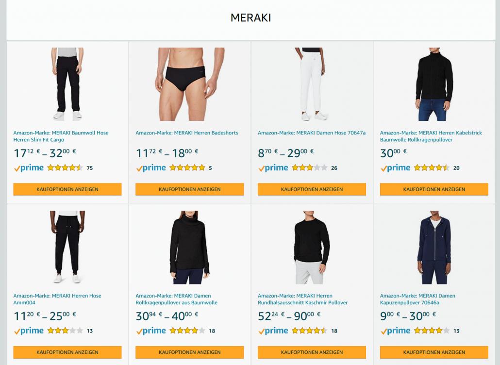 Amazon Eigenmarke Meraki
