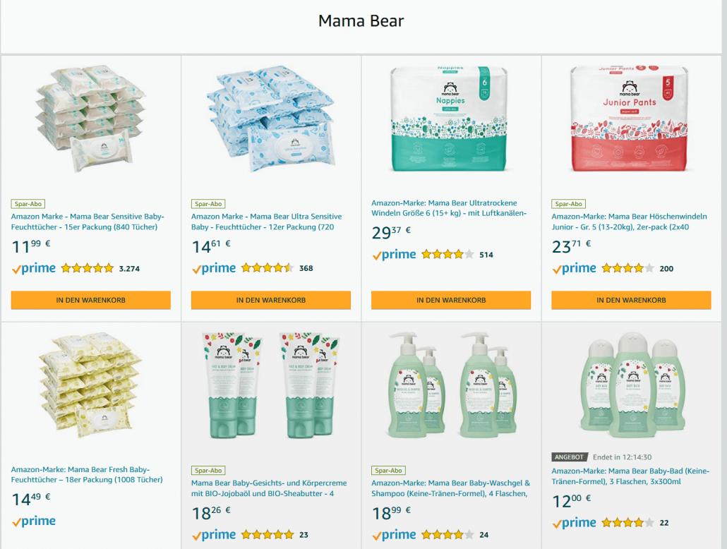 Amazon Eigenmarke Mama Bear