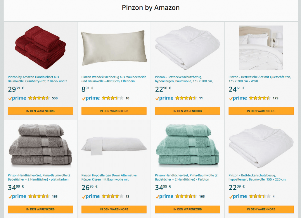 Amazon Eigenmarke Pinzon
