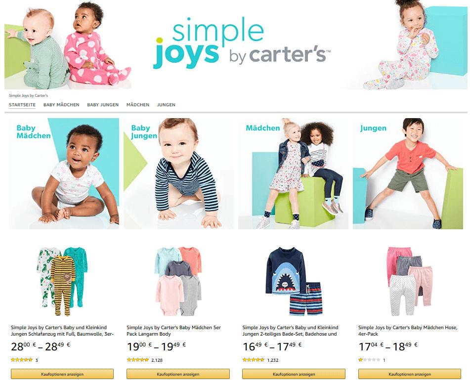 Amazon Eigenmarke simple joys