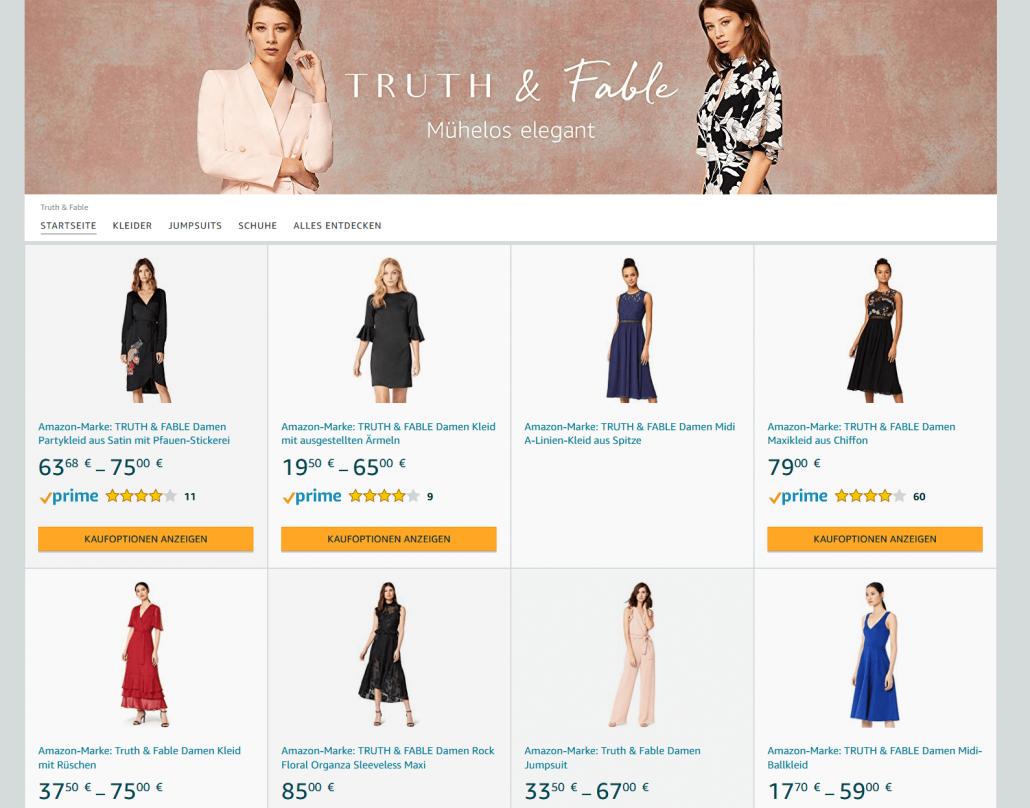 Startseite der Marke Truth & Fabel