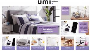 Die Startseite der Amazon Eigenmarke Umi