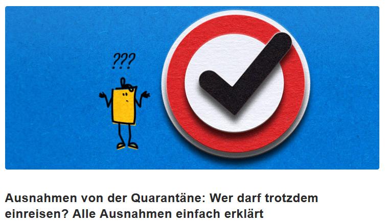 Ausnahmen von der Quarantäne: Wer darf trotzdem einreisen? Alle Ausnahmen einfach erklärt