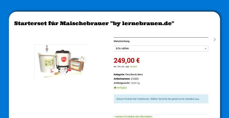 """Starterset für Maischebrauer """"by lernebrauen.de"""""""