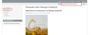 Onlineshop Startseite Weingut Grafenhof