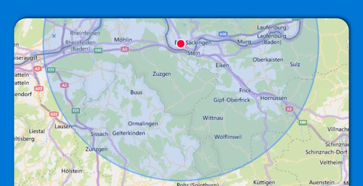 Umkreis 15 km MyPaketshop
