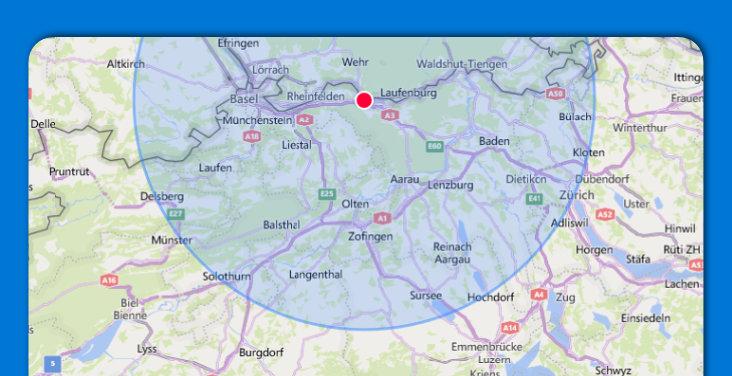 Umkreis 50 km MyPaketshop