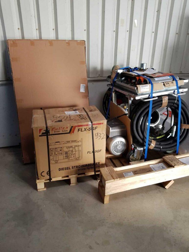 Ein Generator mit Maschine