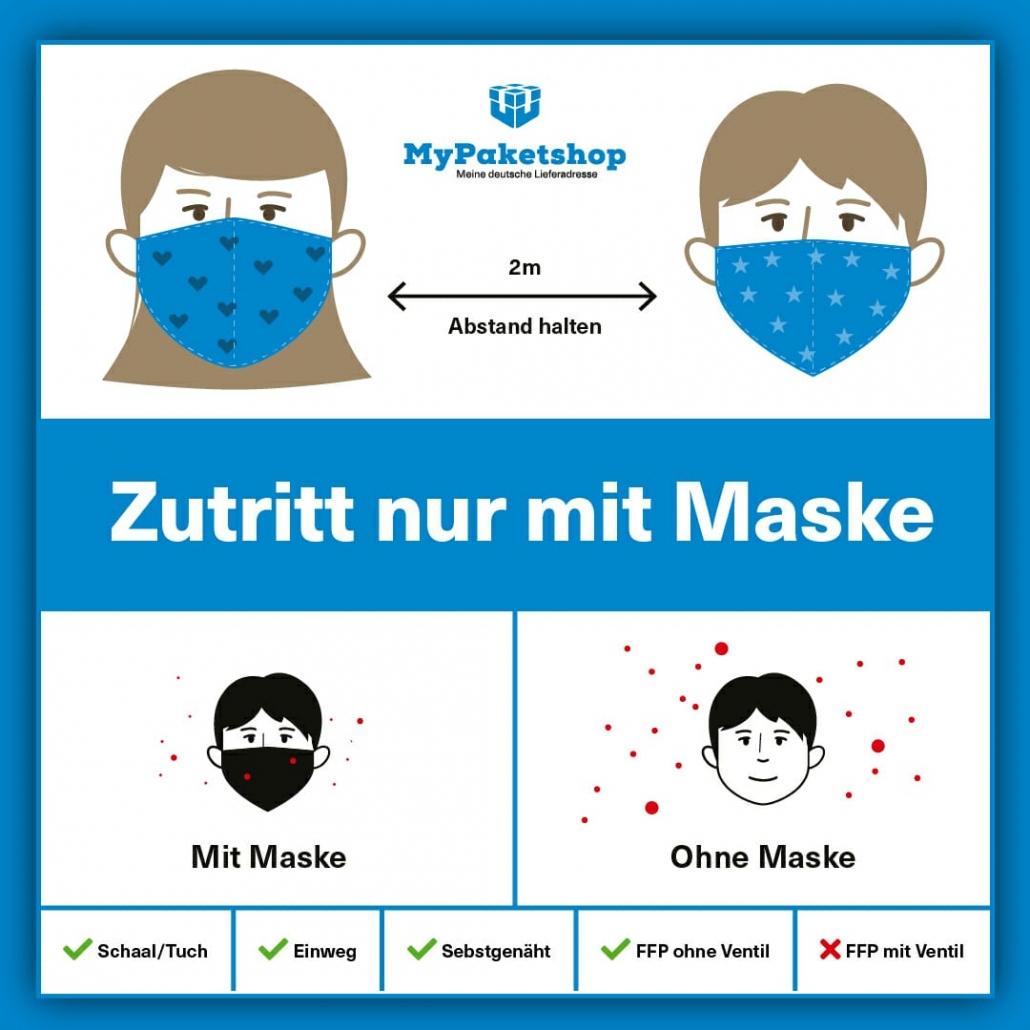 Maskenpflicht auch bei MyPaketshop