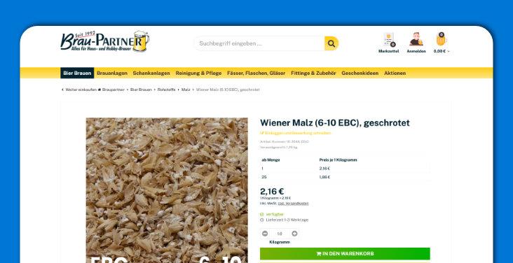 Wiener Malz geschrotet - braupartner