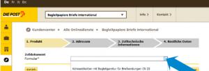 Zollinhaltserklärung Beispiel Schweizer Post