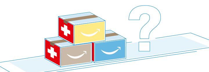 Amazonpakete auf Förderband