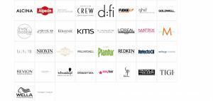 Auswahl der Marken von Friseur Einkauf