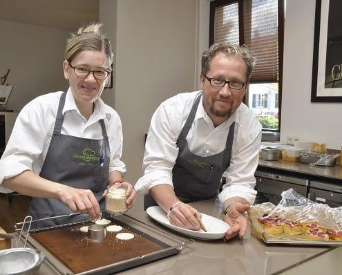 Inhaber Raimar Pilz und Köchin Juliane Zwar