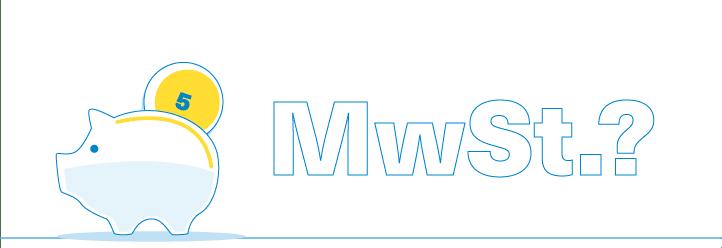 Münzen und die Buchstaben MwSt - grafisch