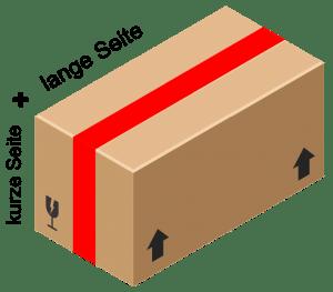 Paket mit Abmessungen
