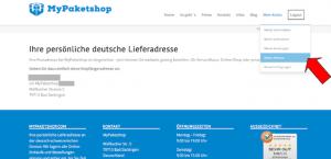 MyPaketshop Lieferadresse