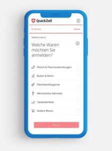Quickzollapp - Bildausschnitt