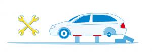 Grafik Fahrzeug Reifenwechsel