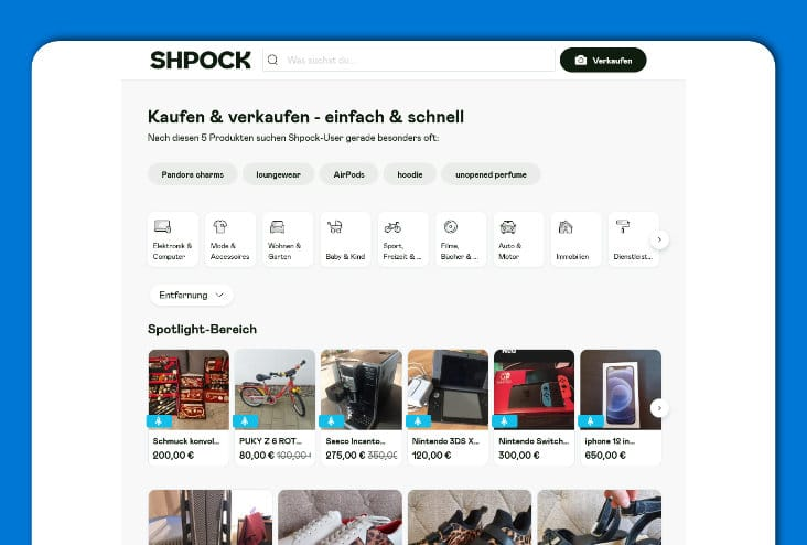 Shpock - Alle Artikel