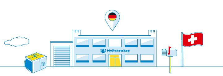 modernes Gebäude MyPaketshop (grafisch)