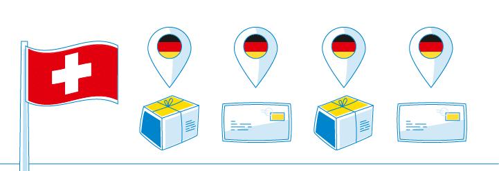 Brief, Paket und Päckchen in die Schweiz schicken